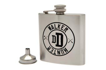The Walking Dead Stainless Steel Hip Flask (Silver) (One Size)