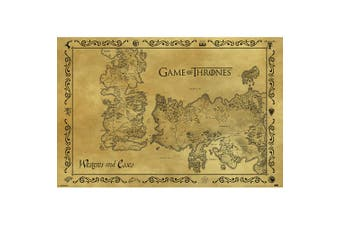 Game Of Thrones Antique Map Poster (Multi-colour) (One Size)
