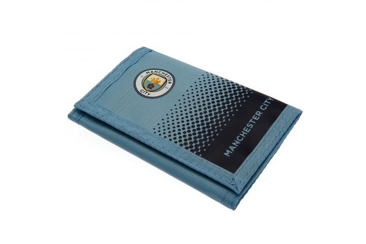 Manchester City FC Fade Design Touch Fastening Nylon Wallet (Turquoise/Black) (One Size)