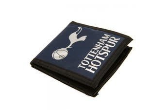 Tottenham Hotspur FC Touch Fastening Canvas Wallet (Navy/Black/White) (One Size)