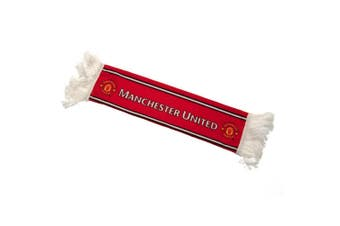 Manchester United FC Mini Car Scarf (Red) (One Size)
