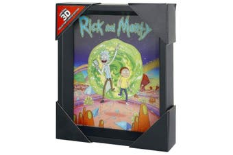 Rick And Morty Framed 3D Picture (Multi-colour) (One Size)