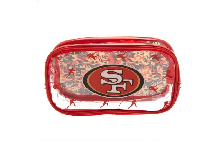 San Francisco 49ers Pencil Case (Red/Clear) (One Size)