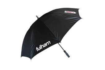 Fulham FC Single Canopy Golf Umbrella (Black) (One Size)