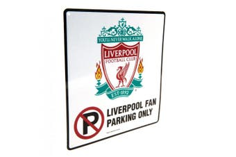 Liverpool FC No Parking Sign (White) (One Size)