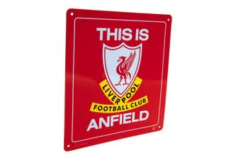 Liverpool FC This Is Anfield Sign (Red) (One Size)