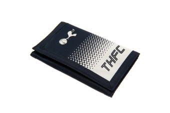 Tottenham Hotspur FC Touch Fastening Fade Design Nylon Wallet (Black/White) (12 x 8cm)