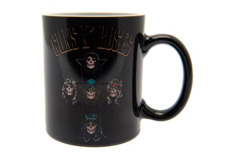 Guns N Roses Heat Changing Ceramic Mug (Black/Multicoloured) (9 x 8cm)