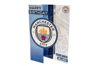 Manchester City F.C. Pop Out Birthday Card (Blue) (One Size)