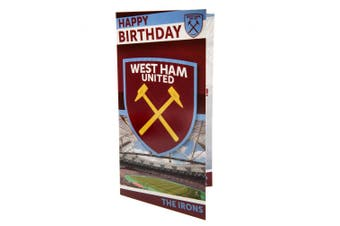 West Ham United FC Birthday Card (Various) (One Size)