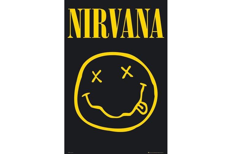 Nirvana Poster (Black/Yellow) (One Size)