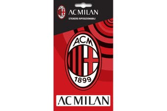 AC Milan Official Crest Sticker (Red) (One Size)