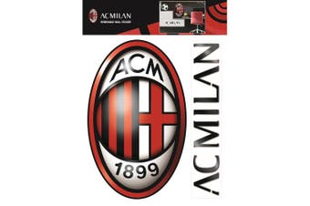 AC Milan Official Wall Stickers (Set of 2) (Red/Black) (One Size)