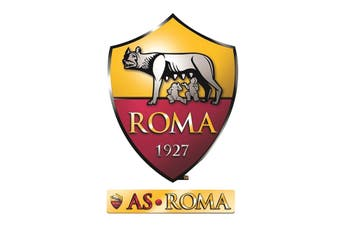 AS Roma Official Wall Stickers (Set of 2) (Red/Yellow) (One Size)