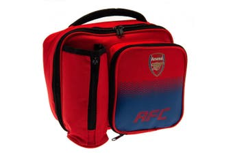 Arsenal FC Official Fade Pattern Lunch Bag (Red/Blue) (One Size)