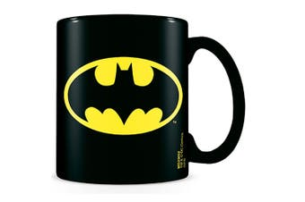 Batman Logo Mug (Black) (One Size)