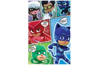 PJ Masks Comic Poster (Multi Coloured) (One Size)
