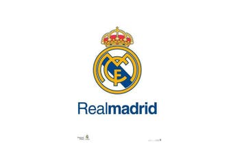 Real Madrid CF Crest Poster (White) (One Size)
