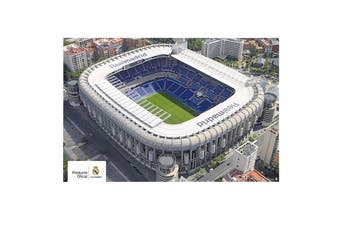 Real Madrid CF Stadium Poster (White) (One Size)