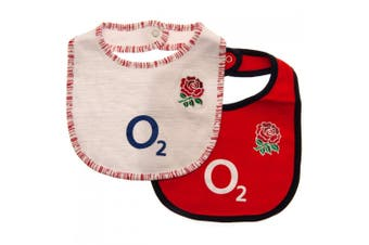 England RFU Baby Bibs (Pack Of 2) (Red/White) (One Size)