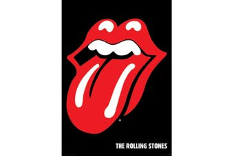 The Rolling Stones Logo Poster (Black/Red) (One Size)