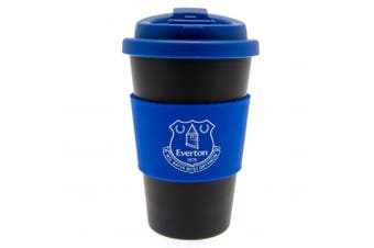 Everton FC Silicone Grip Travel Mug (Black/Blue) (One Size)