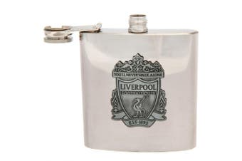 Liverpool FC Hip Flask (Silver) (One Size)