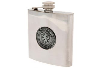 Chelsea FC Hip Flask (Silver) (One Size)