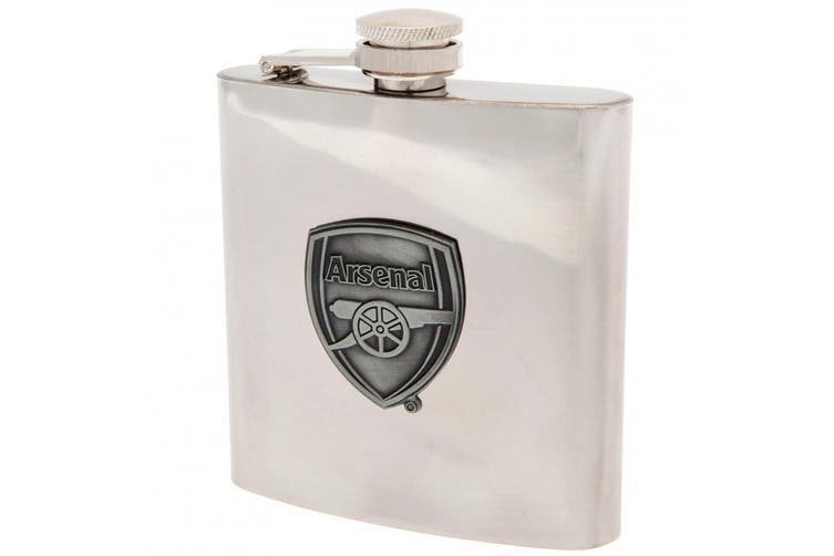 Arsenal FC Hip Flask (Silver) (One Size)