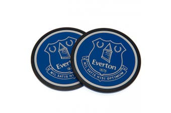 Everton FC Coaster Set (Pack Of 2) (Blue) (One Size)