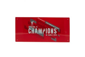Liverpool FC Champions Of Europe Street Sign (Red) (One Size)