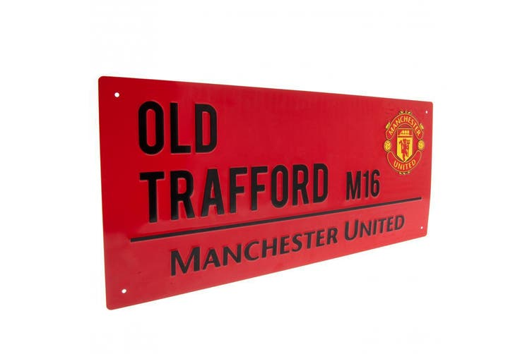 Manchester United FC Street Sign (Red/Black) (One Size)