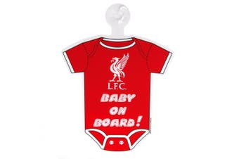 Liverpool FC Baby On Board Sign (Red) (One Size)