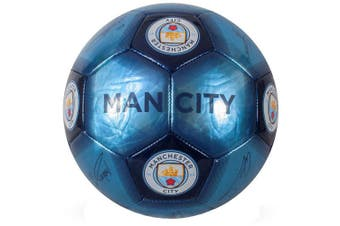 Manchester City FC Signature Skill Ball (Blue) (One Size)