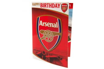 Arsenal FC Musical Birthday Card (Red) (One Size)