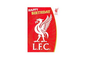 Liverpool FC Musical Birthday Card (Red) (One Size)