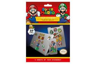 Super Mario Tech Stickers (Multicoloured) (One Size)