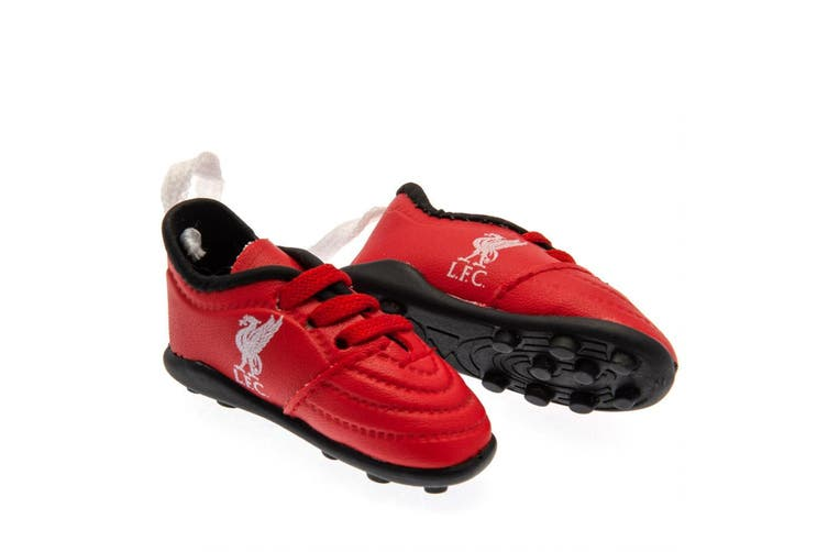 Liverpool FC Mini Football Boots (Red) (One Size)
