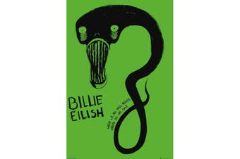Billie Eilish Ghoul Poster (Green) (One Size)