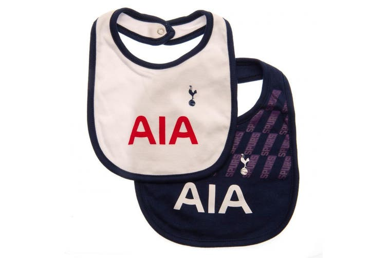 Tottenham Hotspur FC Baby Unisex Bibs (Pack Of 2) (White/Blue) (One Size)