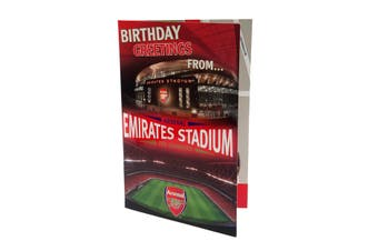 Arsenal FC Pop-Up Birthday Card (Red) (One Size)