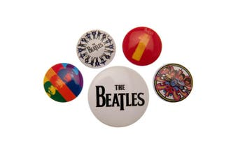 The Beatles Button Badge Set (Pack of 5) (Multicoloured) (One Size)