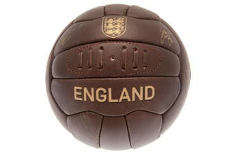 England FA Leather Retro Heritage Football (Brown) (One Size)