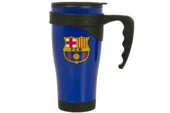 FC Barcelona Handled Travel Mug (Blue) (One Size)