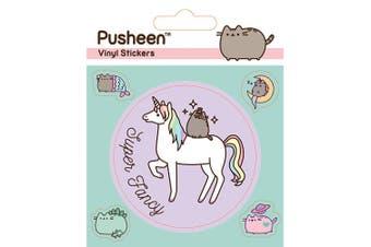 Pusheen Unicorn Vinyl Stickers (Pack of 5) (Multicoloured) (One Size)
