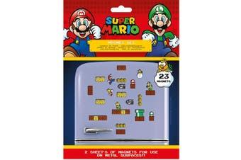Super Mario Fridge Magnets (Pack of 23) (Multicoloured) (One Size)