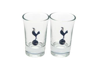 Tottenham Hotspur FC Shot Glass Set (Pack of 2) (Clear) (One Size)