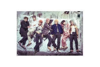 BTS Group Bed Poster (Multicoloured) (One Size)