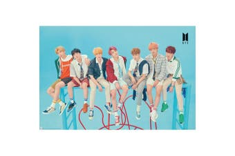 BTS Group Blue Poster (Blue) (One Size)