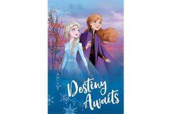 Frozen 2 Destiny Awaits Poster (Multicoloured) (One Size)